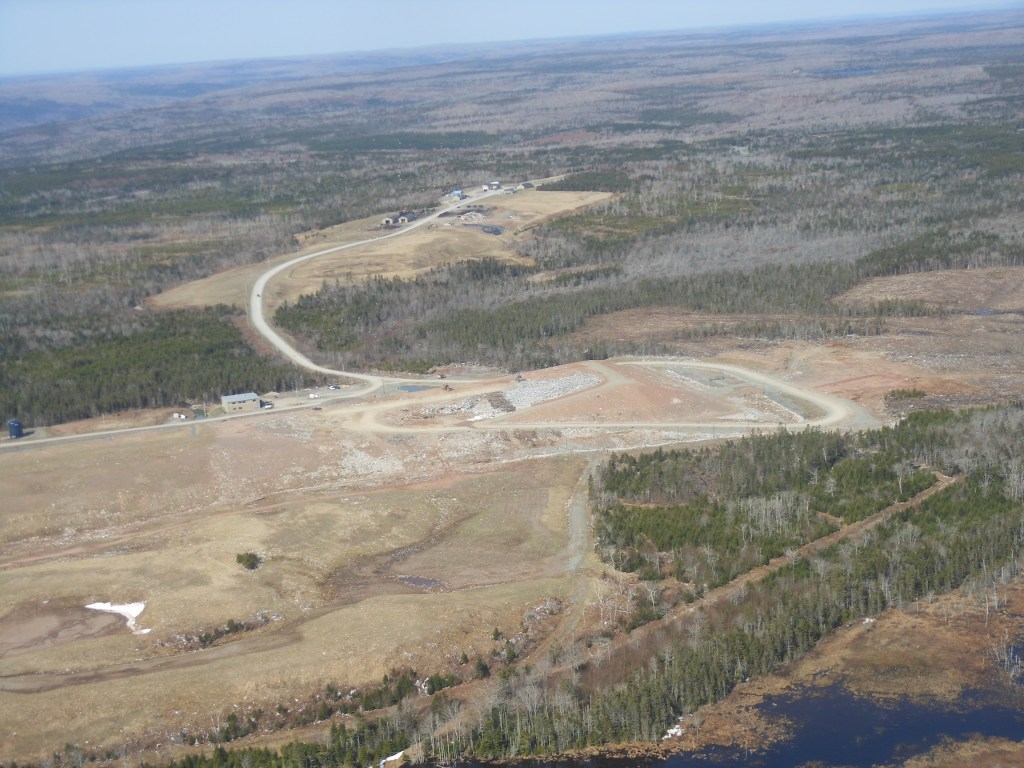 Aerial view of Lincolnville landfill. Photo credit: Silver Donald Cameron 2015.