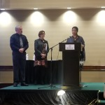 Igrid accepting award
